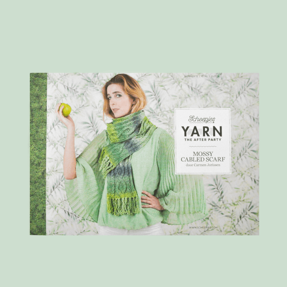YARN The After Party nr. 12 - Mossy Cabled Scarf Scheepjeswol